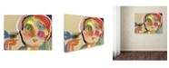 """Trademark Global Wyanne 'The Talker' Canvas Art - 24"""" x 18"""" x 2"""""""