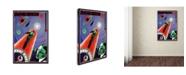 "Trademark Global Vintage Lavoie 'Journey To Mars' Canvas Art - 19"" x 12"" x 2"""