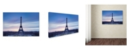 "Trademark Global Robert Harding Picture Library 'Eiffel Tower 5' Canvas Art - 19"" x 12"" x 2"""