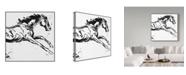 "Trademark Global Sher Sester 'Black Scribble Horse' Canvas Art - 24"" x 24"" x 2"""