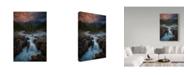 """Trademark Global Michael Zheng 'Sunwapta Falls' Canvas Art - 47"""" x 30"""" x 2"""""""