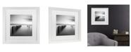 """Trademark Global Moises Levy 'Rebellion Pier' Matted Framed Art - 11"""" x 11"""" x 0.5"""""""