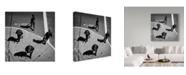 "Trademark Global Jianwei Yang 'Look Crowd' Canvas Art - 18"" x 2"" x 18"""