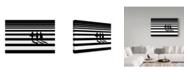 "Trademark Global Natalia Baras 'Horizontal' Canvas Art - 19"" x 2"" x 12"""