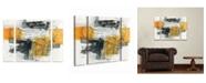 "Trademark Global Jane Davies 'Action I' Multi Panel Art Set Small 3 Piece - 34"" x 44"" x 2"""