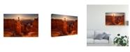 "Trademark Global Mike Hitchner 'Thors Hammer Sunrise' Canvas Art - 32"" x 2"" x 22"""