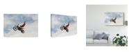 """Trademark Global Mircea Vlasceanu 'No Hands Super Flyer' Canvas Art - 24"""" x 2"""" x 16"""""""