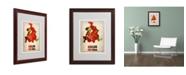 "Trademark Global Naxart 'Dallas Watercolor Map' Matted Framed Art - 16"" x 20"" x 0.5"""