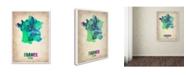 "Trademark Global Naxart 'France Watercolor Map' Canvas Art - 24"" x 32"" x 2"""