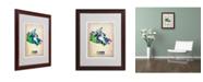 "Trademark Global Naxart 'Canada Watercolor Map' Matted Framed Art - 16"" x 20"" x 0.5"""