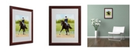 "Trademark Global Michelle Moate 'Horse of Sport IX' Matted Framed Art - 20"" x 16"" x 0.5"""