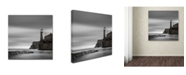 "Trademark Global Moises Levy 'Morro Lighthouse' Canvas Art - 18"" x 18"" x 2"""