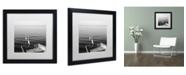 "Trademark Global Moises Levy '2 Herons Leaving' Matted Framed Art - 16"" x 16"" x 0.5"""