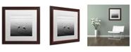 "Trademark Global Moises Levy '2 Herons' Matted Framed Art - 16"" x 16"" x 0.5"""