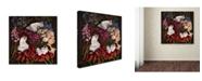 "Trademark Global James Hall 'Sleeping In Flowers' Canvas Art - 35"" x 35"" x 2"""