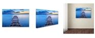 "Trademark Global Srecko Jubic 'Pier' Canvas Art - 32"" x 22"" x 2"""