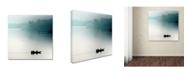 "Trademark Global Piet Flour 'Sunrise On The Nile' Canvas Art - 14"" x 14"" x 2"""