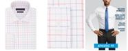 Tommy Hilfiger Men's Fitted Flex Stretch Moisture-Wicking Check Dress Shirt
