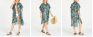 DKNY Printed Shirtdress Cover-Up