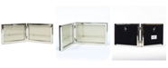 """Lawrence Frames Hinged Double Silver Standard Metal Picture Frame - 6"""" x 4"""""""