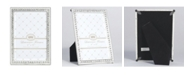 """Lawrence Frames Sarah Silver Metal Frame with Crystal - 4"""" x 6"""""""