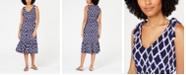 Michael Kors Printed Tie-Shoulder Ruffled Dress, In Regular & Petite