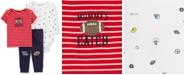 Carter's Baby Boys 3-Pc. Football Cotton T-Shirt, Bodysuit & Pants Set