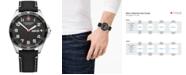Victorinox Swiss Army Men's FieldForce Black Leather Strap Watch 42mm