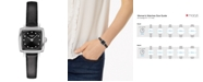Tissot Women's Swiss T-Lady Lovely Diamond Accent Black Leather Strap Watch 20mm