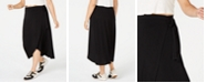 Monteau Trendy Plus Size High-Low Midi Skirt