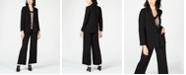 Bar III Blazer, Printed Blouse & Wide-Leg Pants, Created for Macy's