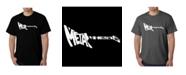 LA Pop Art Mens Word Art T-Shirt - Metal Head Guitar