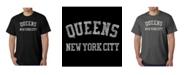 LA Pop Art Mens Word Art T-Shirt - Queens NY Neighborhoods