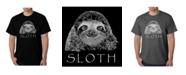 LA Pop Art Mens Word Art T-Shirt - Sloth