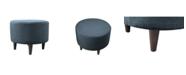 MJL Furniture Designs Sophia Upholstered Round Ottoman