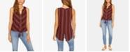 Sanctuary Craft Tie-Front Striped Sleeveless Shirt