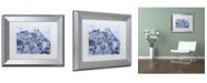 "Trademark Global Michael Tompsett 'Edinburgh Street Map B&W' Matted Framed Art - 11"" x 14"""