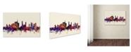 "Trademark Global Michael Tompsett 'Milan Italy Skyline' Canvas Art - 12"" x 19"""