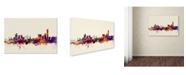 """Trademark Global Michael Tompsett 'Manchester England Skyline' Canvas Art - 12"""" x 19"""""""