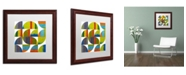 "Trademark Global Michelle Calkins 'Quarter Rounds 2.0' Matted Framed Art - 16"" x 16"""
