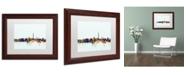 """Trademark Global Michael Tompsett 'Washington DC Skyline Blue' Matted Framed Art - 11"""" x 14"""""""