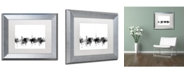 "Trademark Global Michael Tompsett 'Dublin Ireland Skyline B&W' Matted Framed Art - 11"" x 14"""