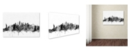 "Trademark Global Michael Tompsett 'New York City Skyline B&W' Canvas Art - 12"" x 19"""
