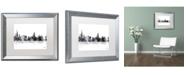 """Trademark Global Marlene Watson 'Chicago Illinois Skyline BG-1' Matted Framed Art - 16"""" x 20"""""""