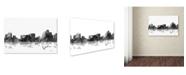 "Trademark Global Marlene Watson 'Reno Nevada Skyline BG-1' Canvas Art - 12"" x 19"""