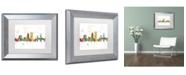 "Trademark Global Marlene Watson 'Jacksonville Florida Skyline Mclr-1' Matted Framed Art - 11"" x 14"""