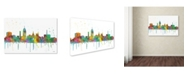 "Trademark Global Marlene Watson 'Lansing Michigan Skyline Mclr-1' Canvas Art - 12"" x 19"""