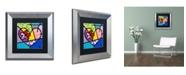 "Trademark Global Roberto Rafael 'Big Heart III' Matted Framed Art - 11"" x 11"""