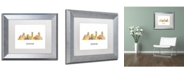 "Trademark Global Marlene Watson 'Denver Colorado Skyline WB-1' Matted Framed Art - 11"" x 14"""