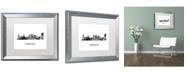 "Trademark Global Marlene Watson 'Norfolk Virginia Skyline WB-BW' Matted Framed Art - 16"" x 20"""